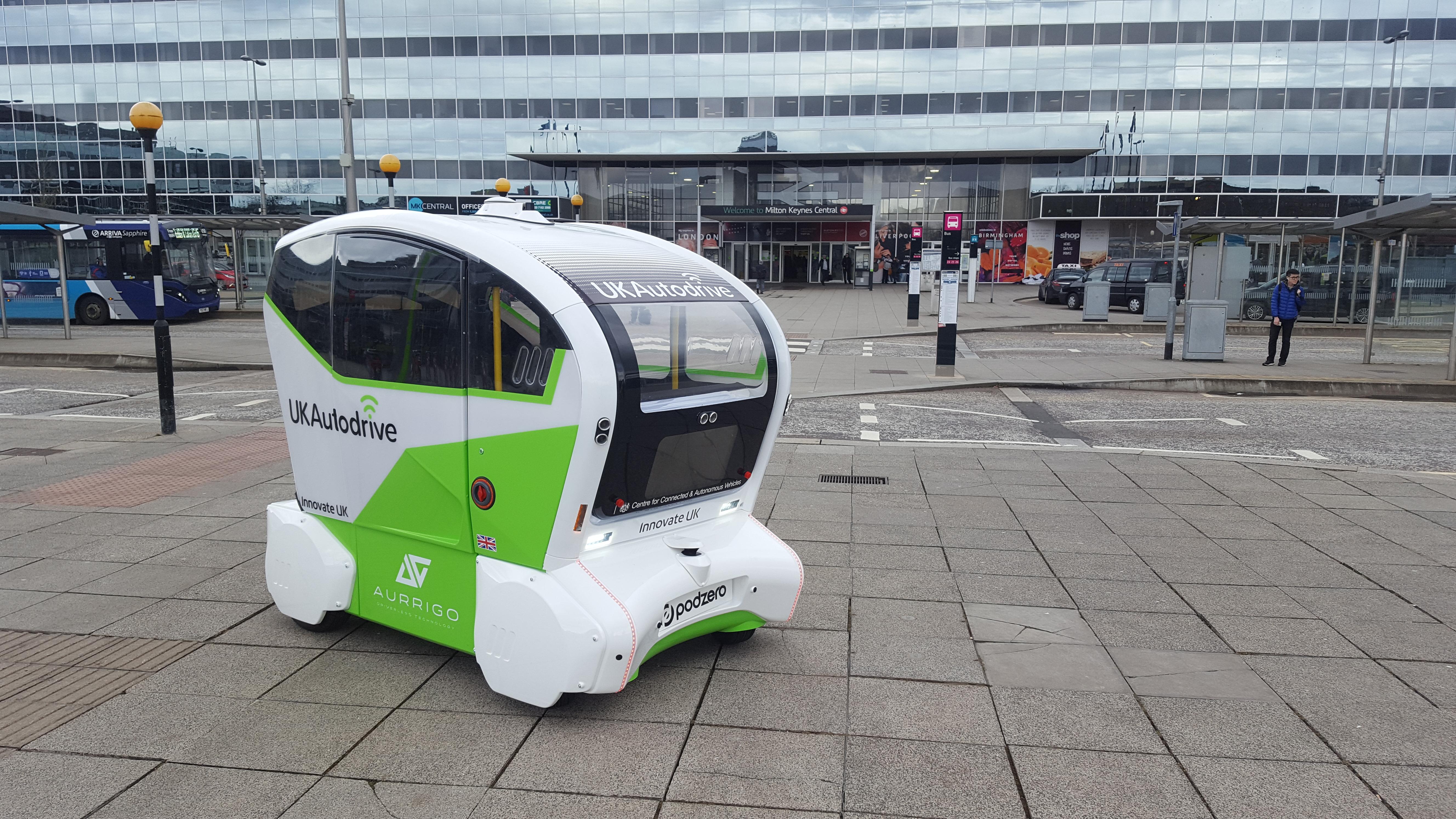 UK Autodrive Pod In Milton Keynes