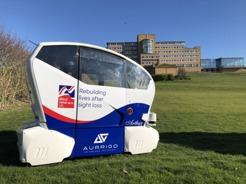 Aurrigo Teams Up With Blind Veterans UK To Launch The World's First Driverless Pods Trial For Disabled People