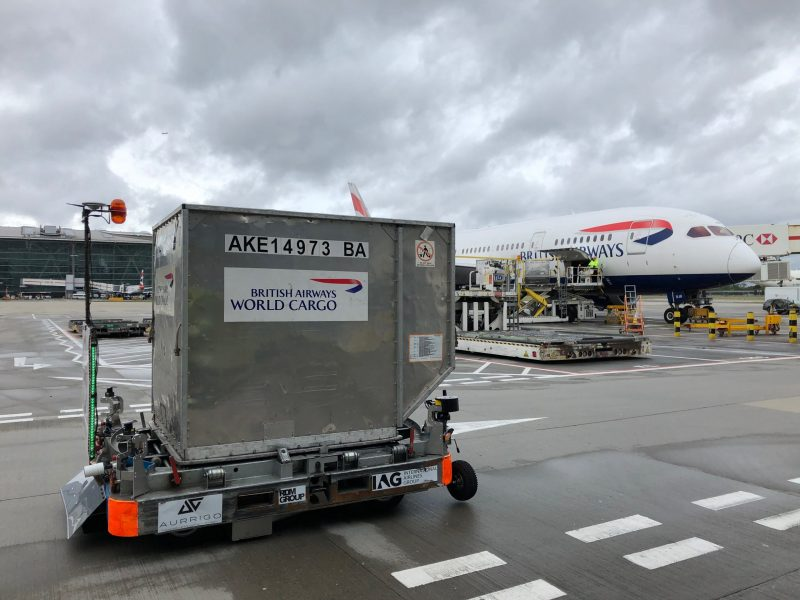 Aurrigo Autonomous Baggage Dolly