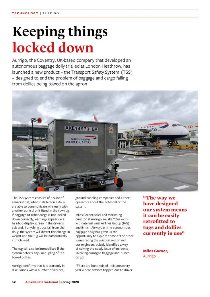 Keeping Things Locked Down - Article from Airside International Spring 2020 edition