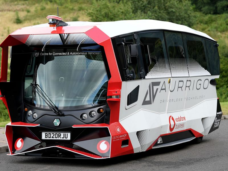 Aurrigo Driverless Shuttle In Action